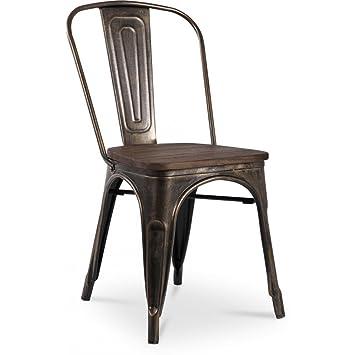 Chaise Tolix Assise En Bois Xavier Pauchard Style