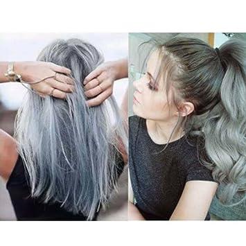 Kingko® 100ML Silver Ash Light Grey Hair Colour Permanent Hair Cream ...