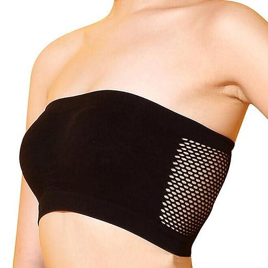 b9d0cb75c3ab7 Women s Lingerie WEUIE Women Sexy Strapless Top Vest Breathable Sports Bras  Bandeau Boob