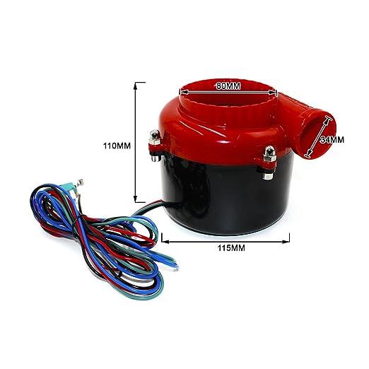 cnspeed Universal electrónico Turbo coche Fake Dump Válvula eléctrica de sonido de Turbo Blow Off Valve BOV: Amazon.es: Coche y moto