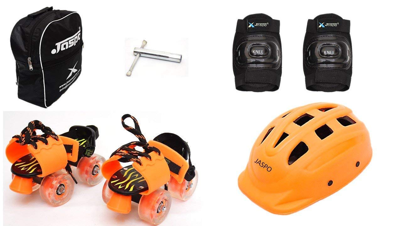 Jaspo Speedy Kid Eco Junior Adjustable Roller Skates Combo Suitable for Age Group Upto 5 Years