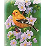LLguz Little Bird 5D Embroidery Paintings Rhinestone Pasted DIY Diamond Paintings Part Round Embroidery Kits Arts Home Decoration Wall Decoration