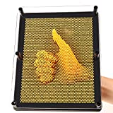 E-FirstFeeling 3D Pin Art Sculpture Extra Large 10'' X 8'' Pin Impression Hand Mold Board Toy - Orange