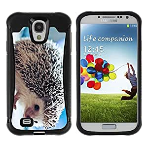 LASTONE PHONE CASE / Suave Silicona Caso Carcasa de Caucho Funda para Samsung Galaxy S4 I9500 / The Friendly Hedgehog