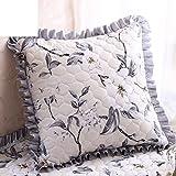 European-style garden Cushion cover/Including heart pillow/Sofa cushions/Office lumbar pillow/Square pillow-D 55x55cm(22x22inch)VersionB