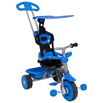 Trikestar Childrenu0027s Trike 4 In 1 With Canopy u0026 Safety Guard - Blue  sc 1 st  Amazon UK & Trikestar Childrenu0027s Trike 4 In 1 With Canopy u0026 Safety Guard ...