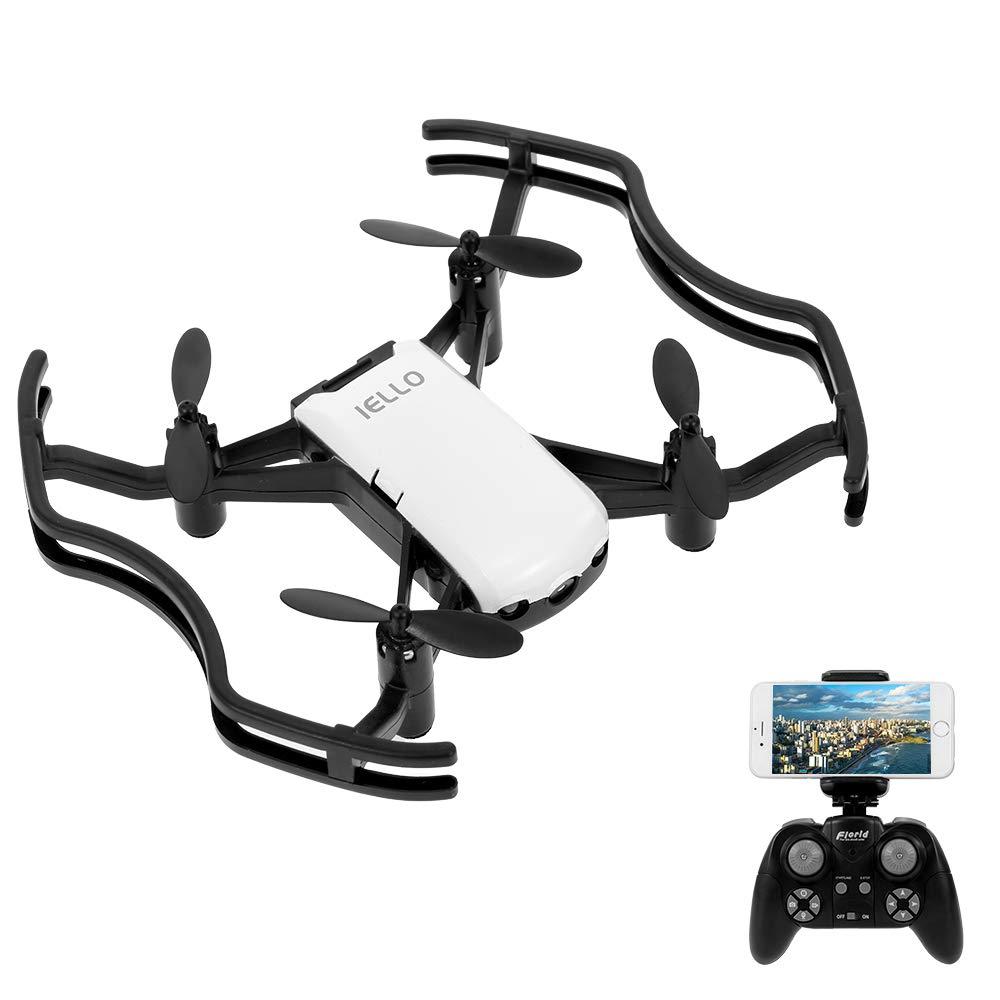 Goolsky Florld IELLO F21G RC Quadrocopter Drohne mit 720P Wifi FPV, Unterstützung Interaktive Geste Foto / Höhe Halten / Optischer Fluss Positionierung / App Control