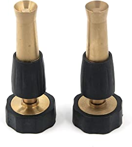Antrader 4-Inch Brass Twist Nozzle Adjustable Hose Spray Nozzle 2-Pack