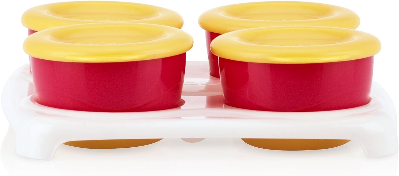 Nuby ID5439 - Set 4 tarrinas con bandeja: Amazon.es: Bebé