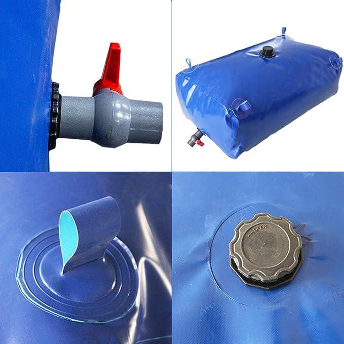 Grande capacit/à Contenitore dellAcqua PVC Collassabile Serbatoio dellAcqua Buono Portatile Campeggio Fattorie Size : 110L//0.8x0.43x0.34M Dimensioni Personalizzabili ZLINFE