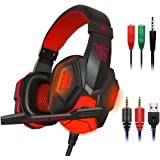 Gaming Headset with Mic and LED Light for Laptop Computer, Cellphone, PS4 and so on, maxin 3.5mm Wired Noise Isolation…