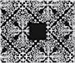 American Crafts Patterned Album D-Ring, 12 by 12-Inch, Black and White Damask