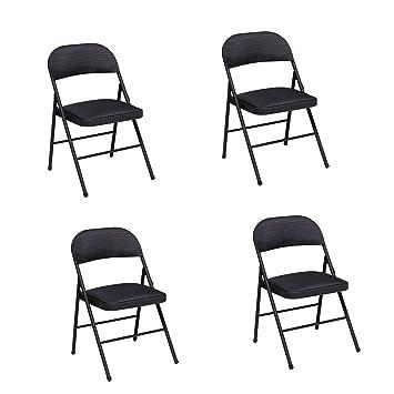 Amazon.com: Asiento de Tela y respaldo silla plegable en ...
