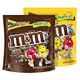 M&M's Plain and Peanut Milk Chocolate Candy Party Size Bags, 42-Ounce Each, 2 Pack