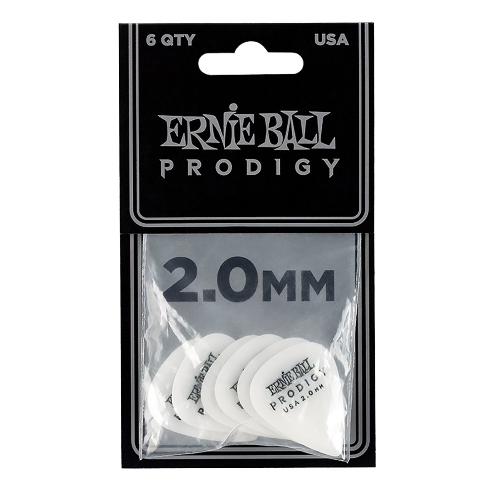 Ernie Ball Prodigy Guitar Picks, Black, 1.5 mm Ernie Ball Music Man 9199