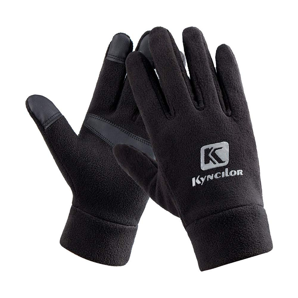 Unisex Winter Gloves, Warm Thermal Gloves Running Gloves Cold Weather Gloves Driving Riding Cycling Gloves Outdoor Sports Gloves for Men and Women (Black 89#, M)