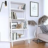 Estante para Livros Escada 4 Prateleiras Tok Yescasa Branco Fosco