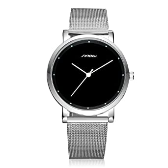 Relojes de Hombre de Moda 2018 Stainless Steel Mesh Band Waterproof Business Dress Watch Men RE0077