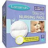 Lansinoh Stay Dry Nursing Pads Medium 36 Each ( Pack of 2)