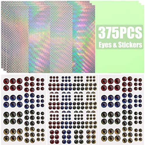 100PCS Realistic 3D Fish Eyes Holographic Fishing Lure Eyes for Lure Bait Making