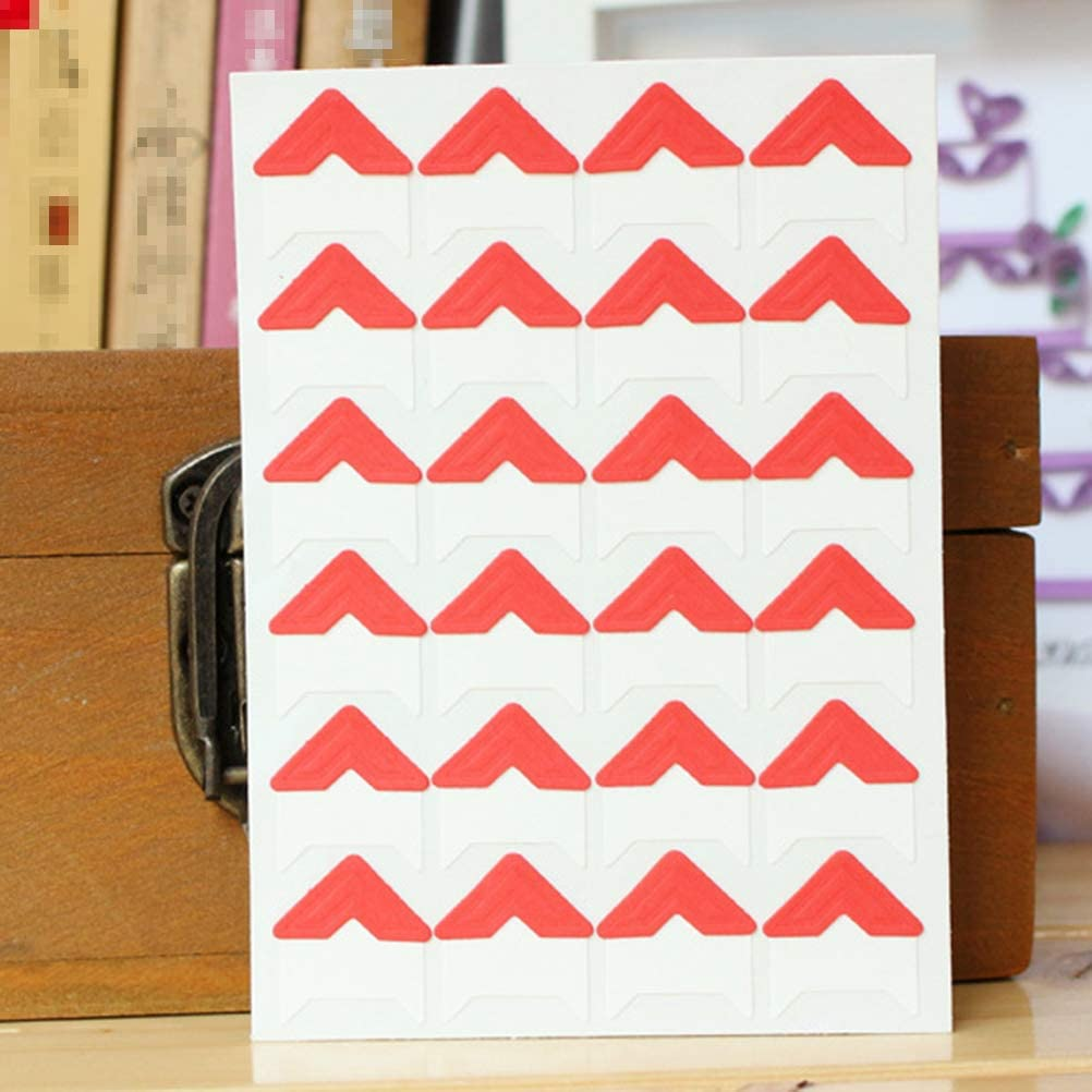 SUPVOX 13 Sheets Creative Photo Corners Self Adhesive for DIY Scrapbooking Picture Album