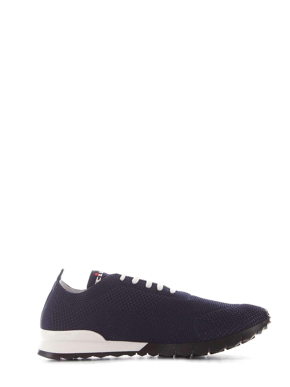 KITON N00609azul - Hauszapatos de poliéster para Hombre, Color azul
