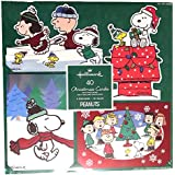Hallmark Peanuts Traditional Christmas Cards with Foil and Glitter Accents and Matching Envelopes, 40 Count