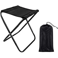Amoued Folding Camping Stool,Mini Portable Folding Camp Chair with Carry Bag, Outdoor Lightweight Small Chair for…