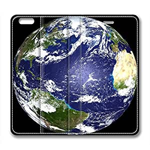 Globe Earth Design Brand New Leather Case for Iphone 6 Blue and Green