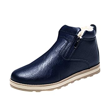 JiaMeng Hombres Botas Ejército Combate Patrulla Táctica Cadete Militares Botas Calientes de Invierno Zapatos Casuales Botas de Nieve de Felpa de Moda: ...