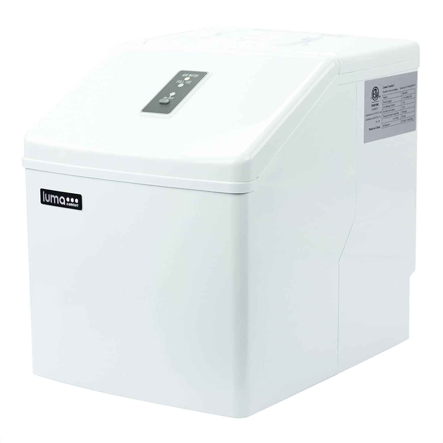 Luma Comfort IM200W Ice Maker 28 Pound White