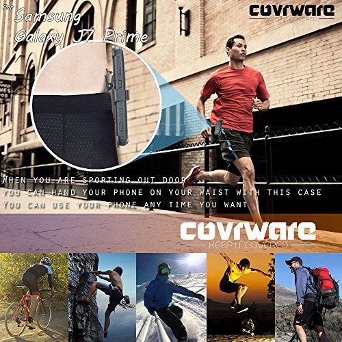 Samsung Galaxy J7 Prime/J7 Sky Pro/J7 Perx/J7 V 2017/J7 2017 Case, COVRWARE [Aegis Series] w/Built-in [Screen Protector] Heavy Duty Full-Body Rugged Holster Armor Cover [Belt Clip][Kickstand], Black by COVRWARE (Image #3)