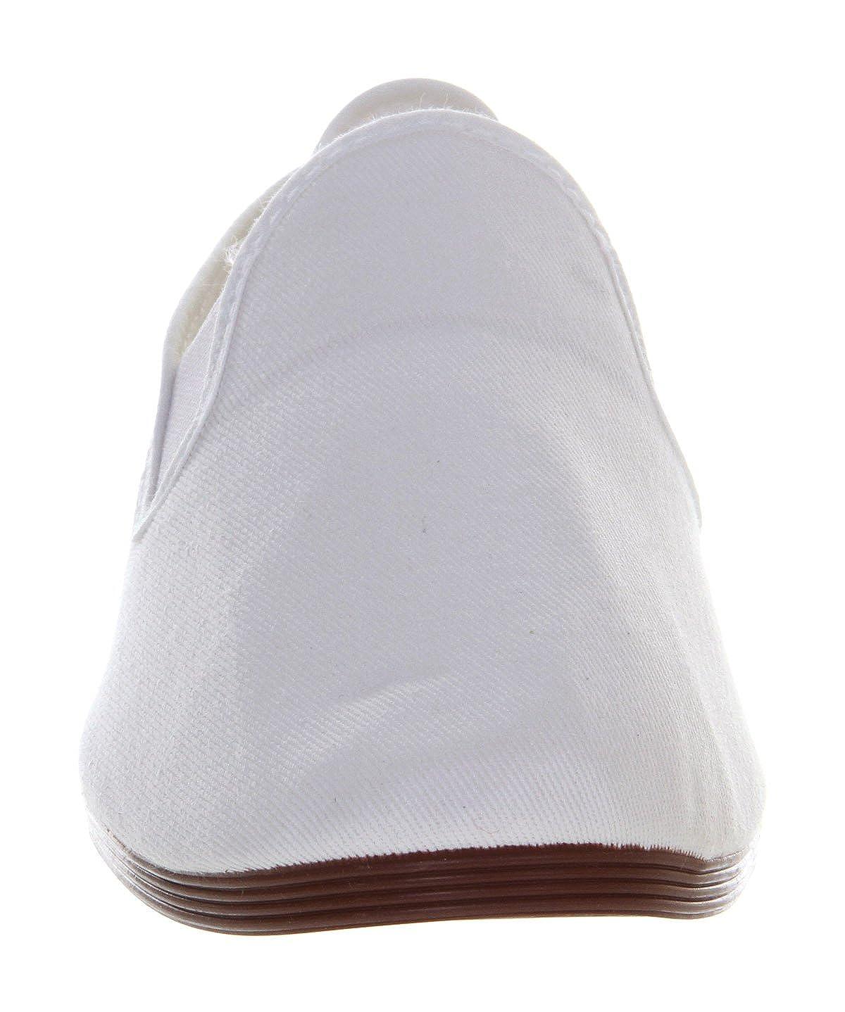 Flossy , Herren Sneaker xxx, Weiß weißes Leinen Größe