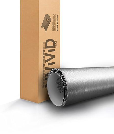 *Premium Chrome Brushed Steel Aluminum Car Vinyl Wrap Sticker Decal Air Release