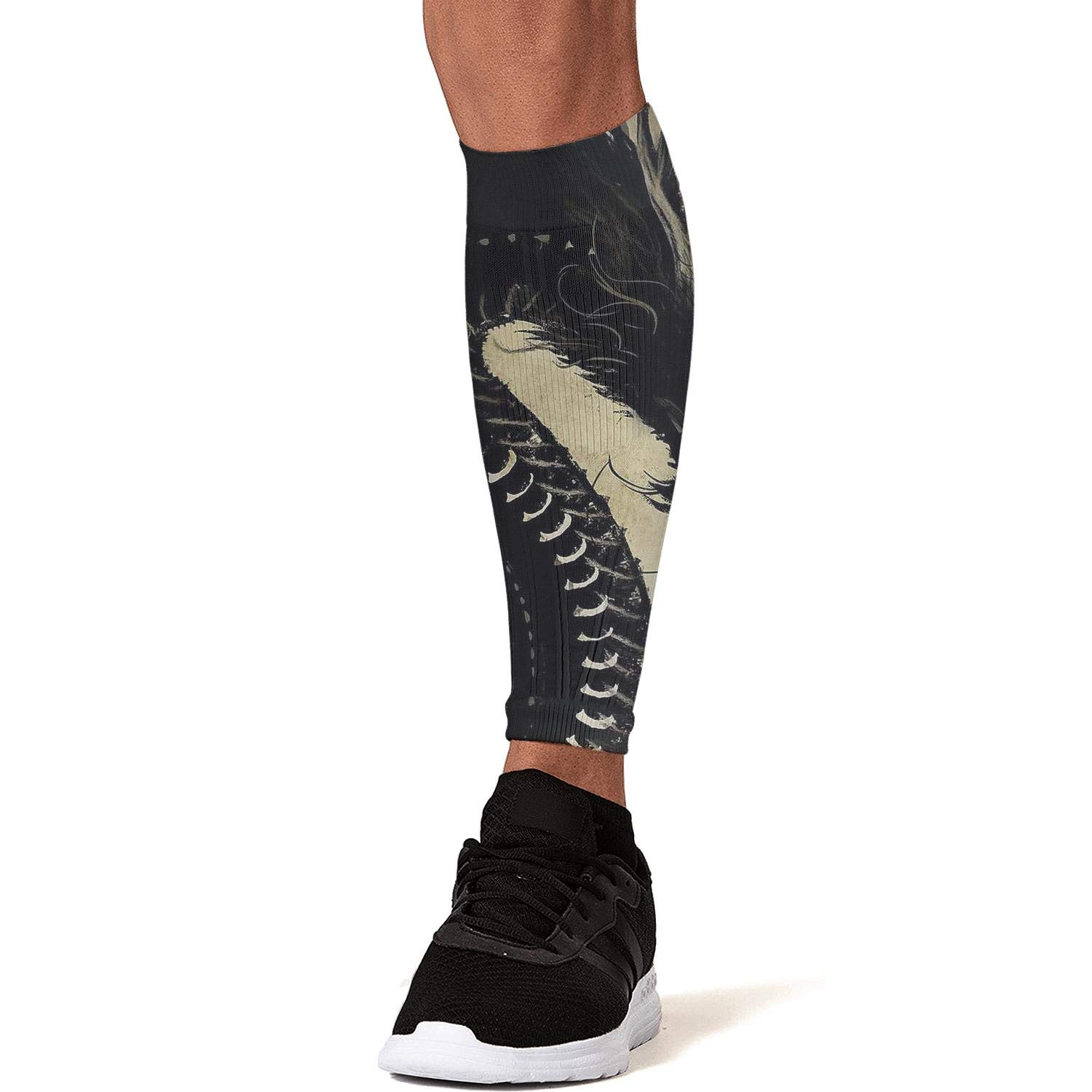 Smilelolly mysterious dragon Calf Compression Sleeves Helps Faster Recovery Leg Sleeves for Men Women