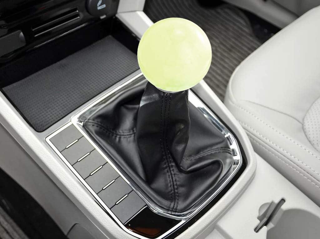 Lunsom Ball Shape Gear Knob Round Shift Head Car Transmission Stick Handle Fit Universal Automatic Manual Vehicle M8x1.25, Pink