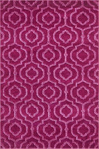 Unique Loom Trellis Frieze Collection Lattice Moroccan Geometric Modern Violet Area Rug (4' 0 x 6' - Geometric Rug Purple