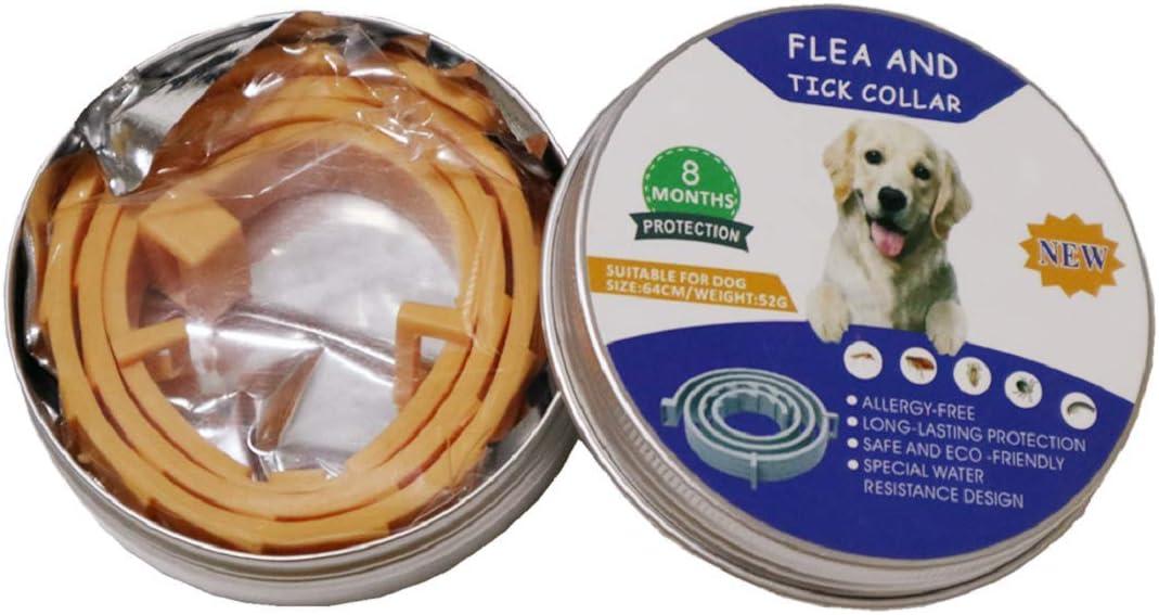 N/ A Collar Antiparasitos para Perros y Gatos contra Pulgas Garrapatas y Mosquitos Ajustable Impermeable - Perro
