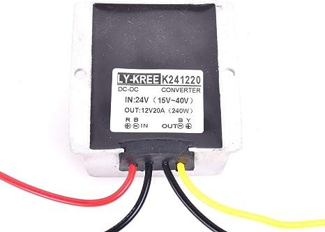 Cocar Lkw Netzteil Spannungswandler 24v Auf 12v 20a Elektronik