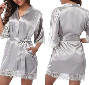 Pijamas De Lencería Sexy Batas Batas De Baño De Encaje Ropa De Ensueño Apasionada @ Gray_L: Amazon.es: Salud y cuidado personal