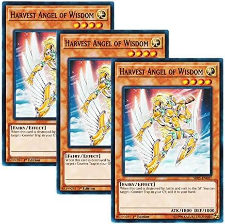 HARVEST ANGEL OF WISDOM YU-GI-OH CARD SR05-EN007-1st EDITION