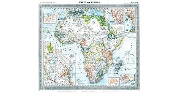 Historische Karte Afrika 1890 Plano Mit Den Kolonien Und