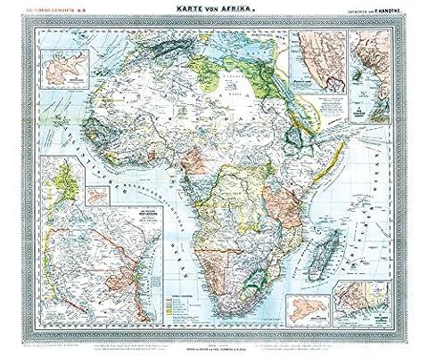 Karte Afrika Kolonien.Historsiche Karte Afrika 1890 Plano Mit Den Kolonien