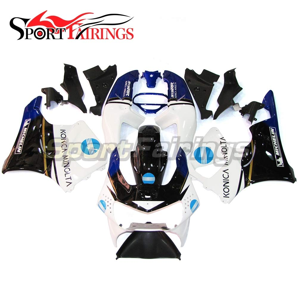 SPMOTO 新しいオートバイ外装部品ホンダ CBR900RR cbr919 CBR900 RR の火災ブレード年 998 1999 ホワイトブルーブラック abs 樹脂カウリング新しいの互換性を設定します。   B07FQHNTHZ