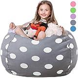 WEKAPO Stuffed Animal Storage Bean Bag Chair Cover for Kids   Stuffable Zipper Beanbag for Organizing Children Plush…