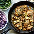 40 Cloves Garlic Chicken with Purple Smashed Potatoes and Spinach by Chef'd