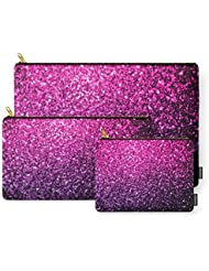 Society6 Purple Pink Ombre Glitter Sparkles Carry-All Pouch