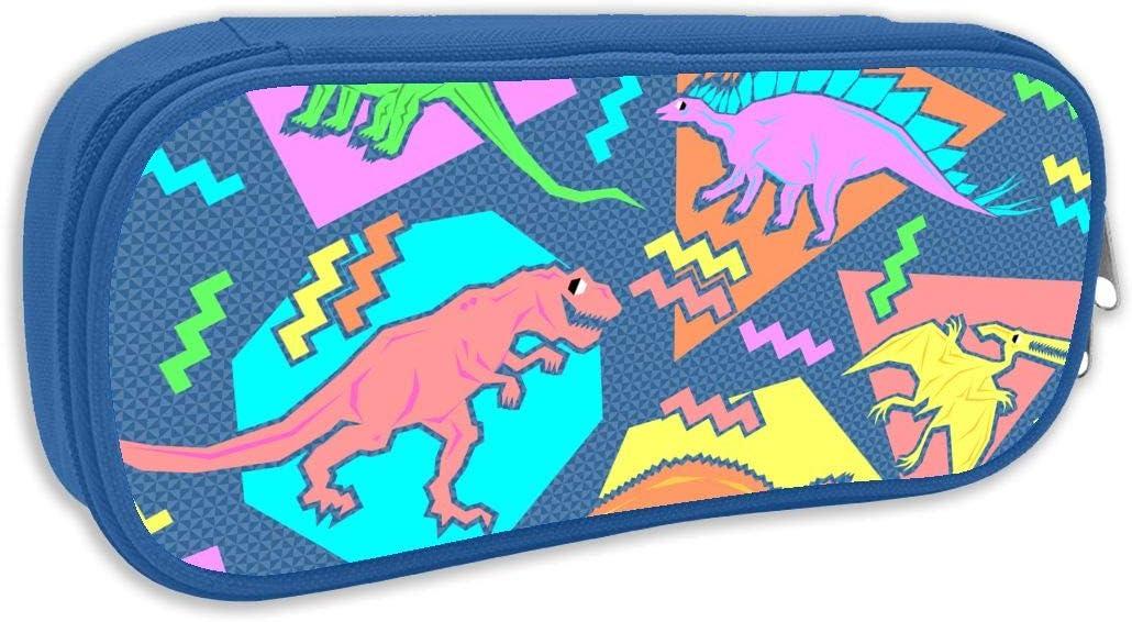 Doble Y 90s Funny Dinosaurios Estuche Estuche Bolsa Multifunción Cosmético Maquillaje Bolsa Escolar Oficina Organizador: Amazon.es: Hogar