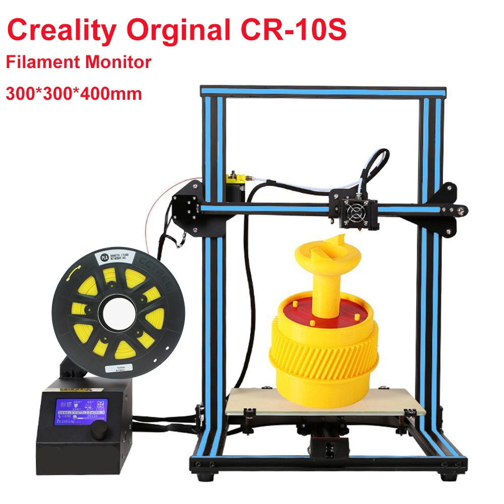 Creality CR-10S 3D Printer Large Printing Size 300x300x400mm 1.75mm 0.4mm Nozzle DIY Self-Assembly Desktop 3D Printer Kits Filament Monitor and Dual Z Axis by Creality 3D (Image #1)