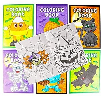 Amazon.com: One Dozen Halloween Coloring Books and Crayons (12 - 5X7 ...